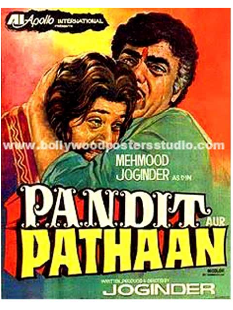 Hand painted bollywood movie posters Pandit pathaan