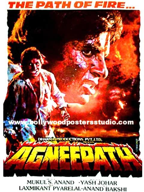 Hand painted bollywood movie posters Agneepath - Amitabh bachchan