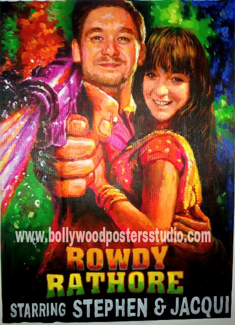 Bollywood style wedding decore and cards for couple online