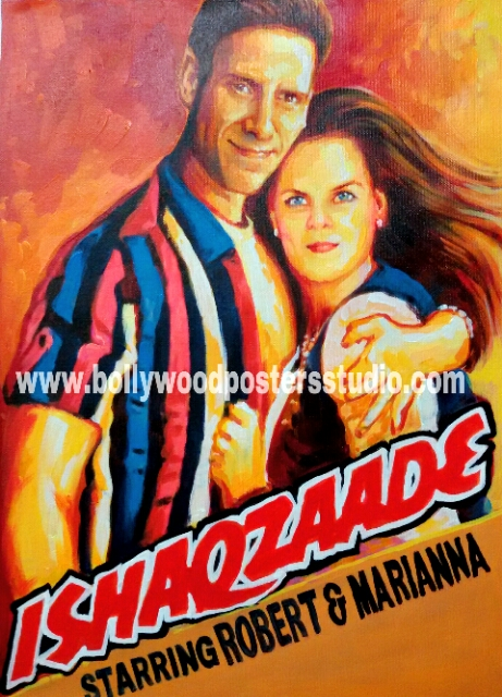Hand painted customized filmy style posters