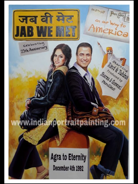 Bespoke hindi bollywood movie poster