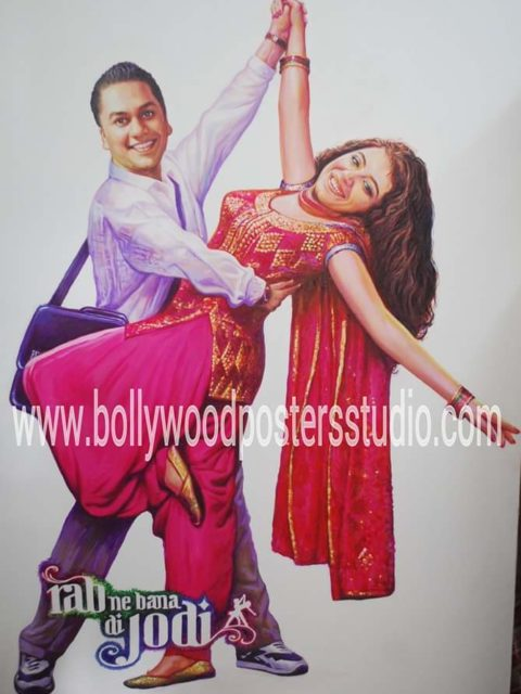 Bollywood themed wedding ideas cutout posters hand painted