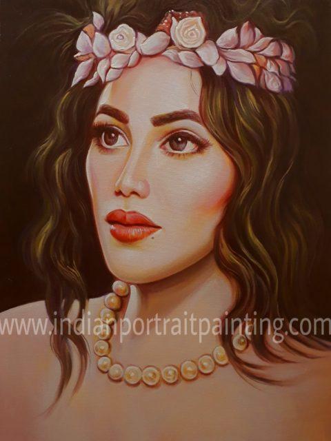 Convert cherish memories into hand painted portrait painting
