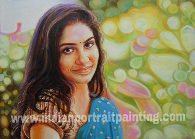 Custom oil canvas portraits