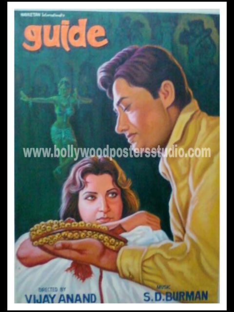 Hand painted Indian movie bollywood posters