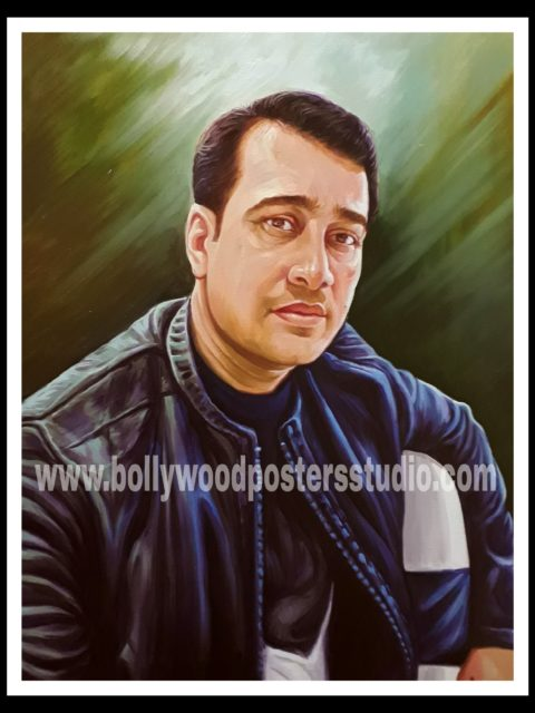 Portrait painting - art of colour, brush and canvas india