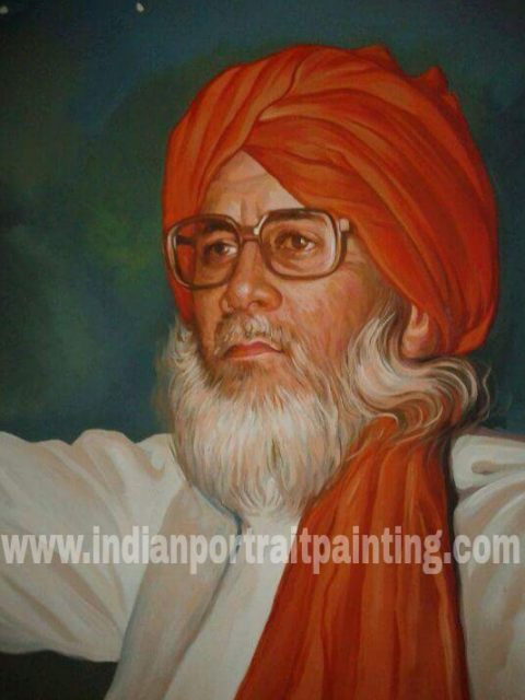 Custom oil painting portrait