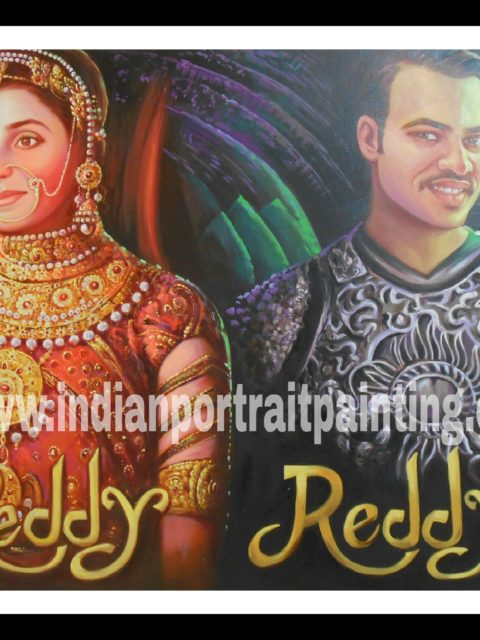 Customized Indian Bollywood style wedding themed posters online