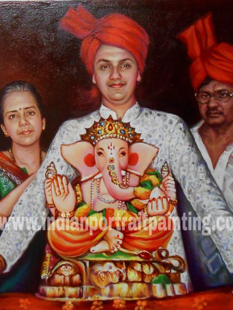Family portrait painting india online service