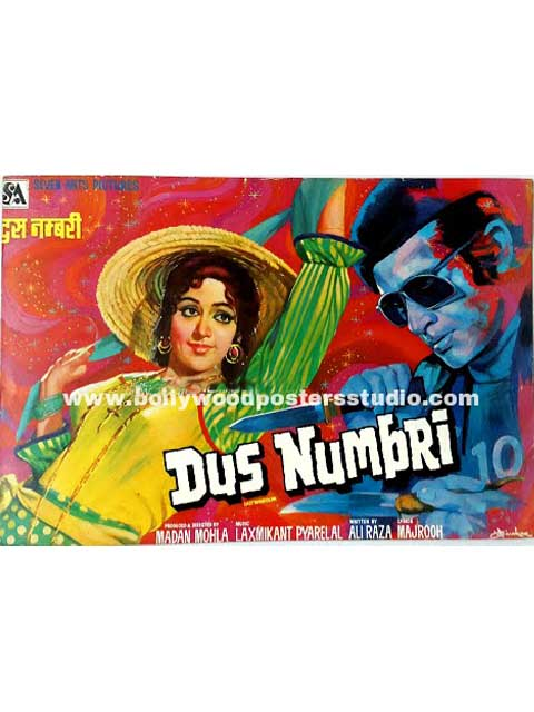 Hand painted bollywood movie posters Dus numbri