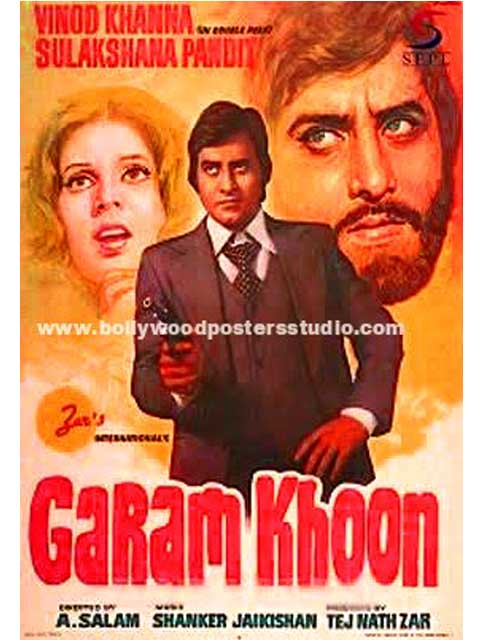 Hand painted bollywood movie posters Garam khoon