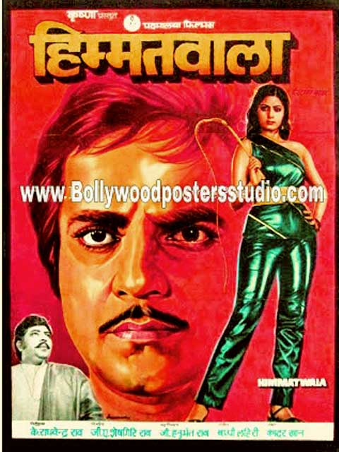 Hand painted bollywood movie posters Himmatwala