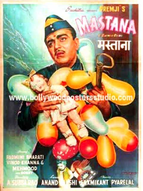 Hand painted bollywood movie posters Mastana