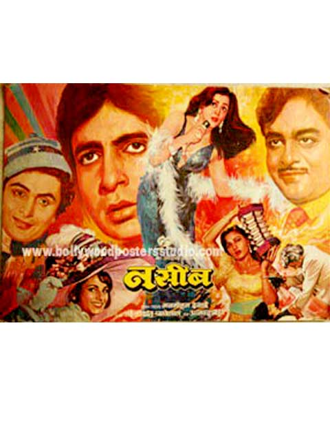 Hand painted bollywood movie posters Naseeb