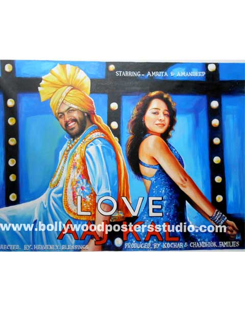 Bollywood style wedding invitation cards and gifts posters