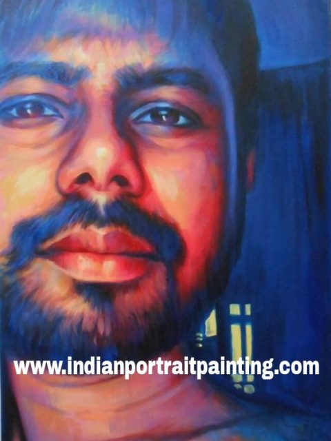 Oil painting portrait art