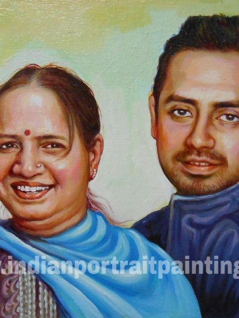 family portrait painting