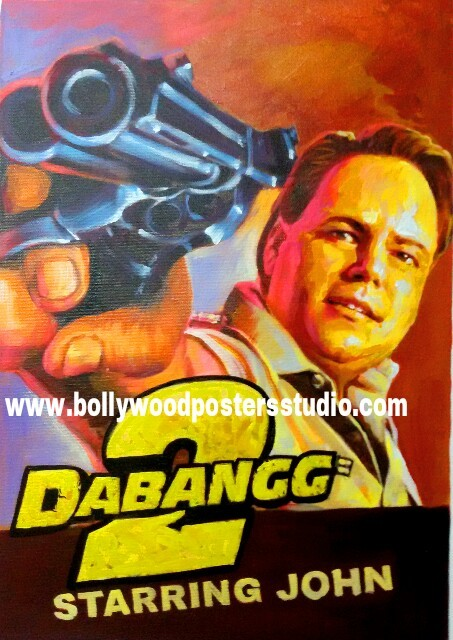 Custom bollywood poster arts