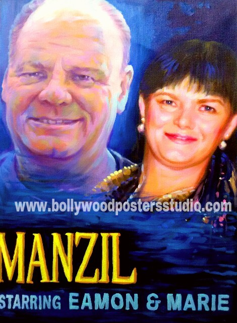 Hindi bollywood movie personal poster painter
