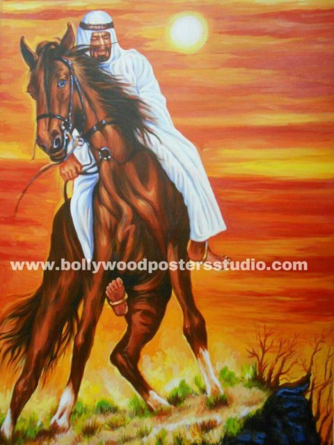 Canvas oil paint artist and painters in mumbai - indo arabic Horse painting