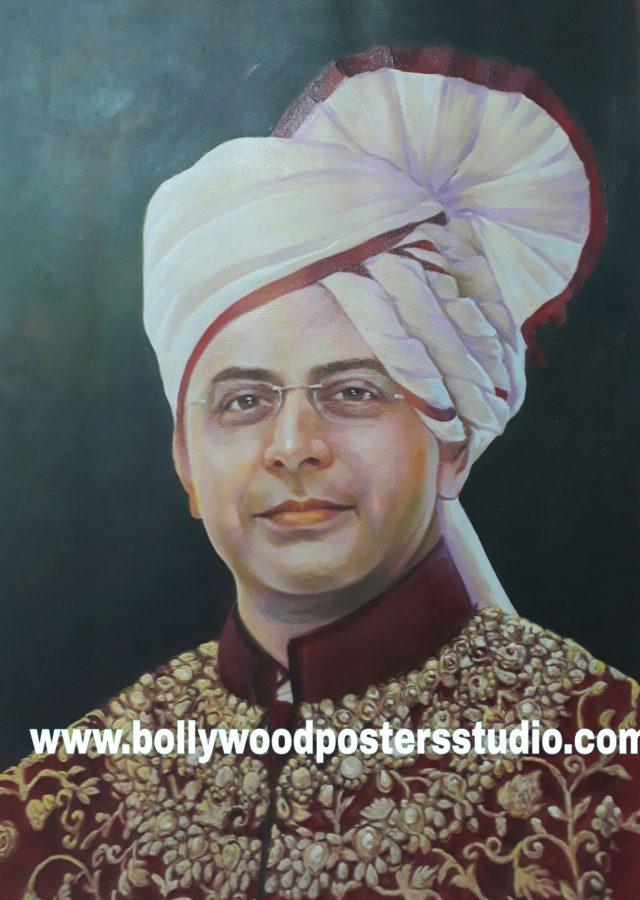 photo to oil portrait on canvas