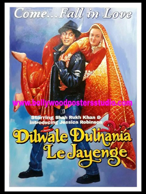 Personal hand painted bollywood posters in indian filmy style