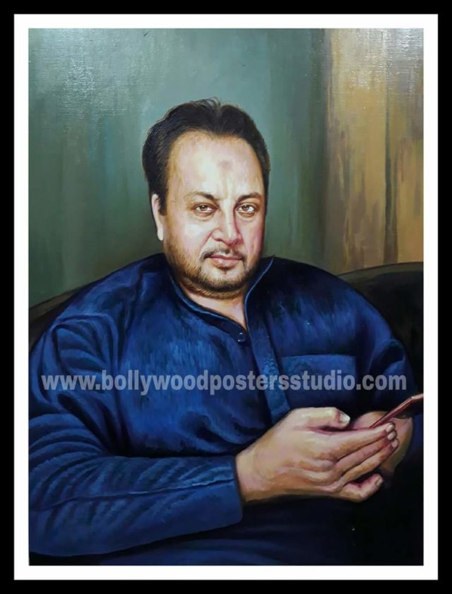 Realistic hand painted portrait art