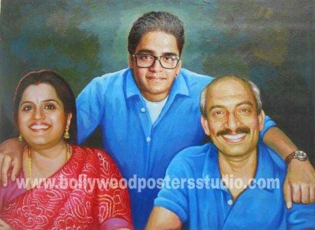 Realistic oil portrait painting on canvas India mumbai