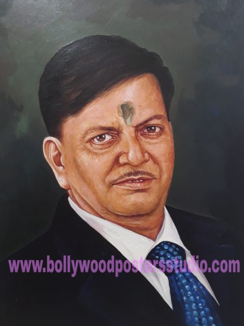Oil portrait painting on canvas from photo