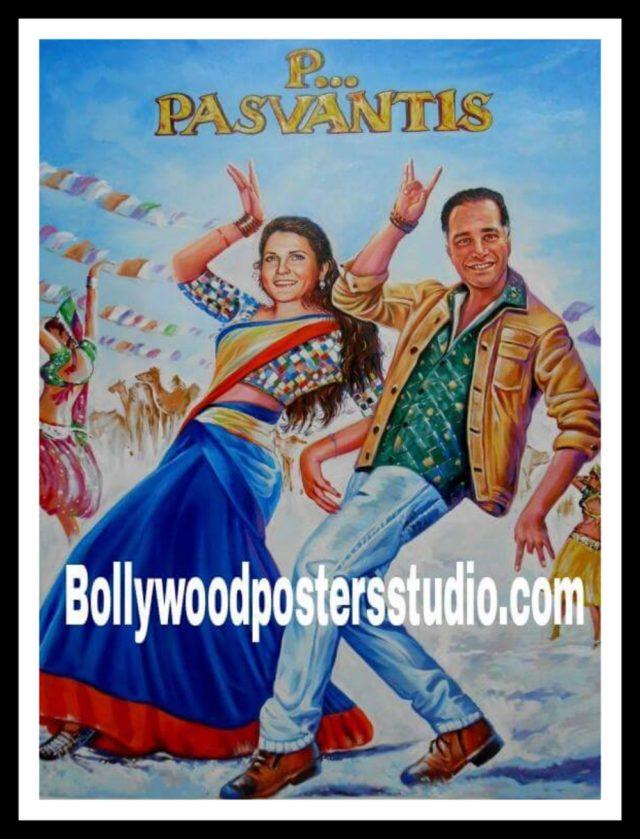 Design personalized Hindi movie film poster