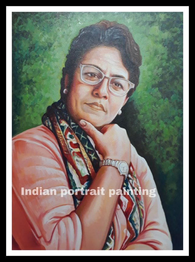 Hand painted portraits from photos makers