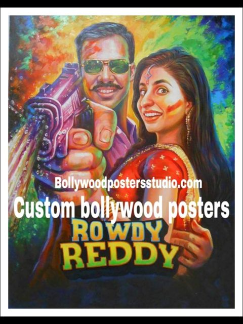 Hand painted indian movie poster