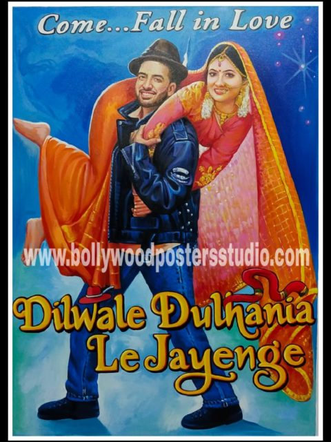 Bollywood style custom made wedding poster for selfie booth