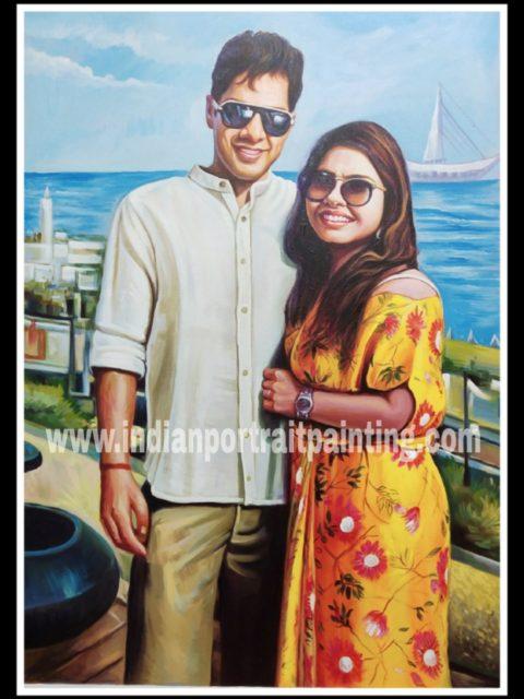 Convert photo to canvas portrait painting
