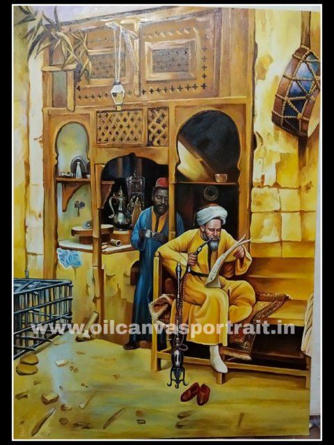 Oil paintings - egyptian fine art paintings