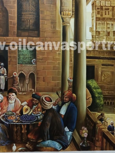 Oil paintings on canvas - old arabian fine art paintings