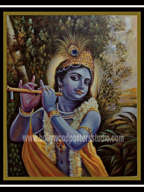 Original oil on canvas paintings - krishna